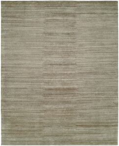 Sibyl Hand-Knotted Wool Gray Area Rug Rug Size: Rectangle 3' x 5'