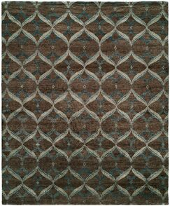Heaney Hand-Knotted Brown Area Rug Rug Size: Rectangle 6' x 9'