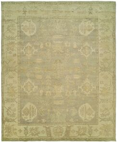 Herrick Hand Knotted Wool Gray/Ivory Area Rug Rug Size: Rectangle 10' x 14'