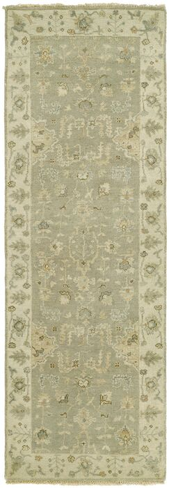 Maynard Hand Knotted Wool Gray Area Rug Rug Size: Runner 2'6