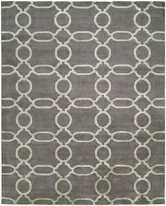 Avila Hand-Knotted Wool Gray Area Rug Rug Size: Runner 2'6