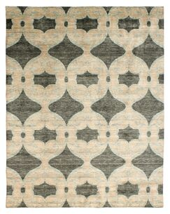 Guida Hand Knotted Wool Beige Area Rug Rug Size: Rectangle 6' x 9'