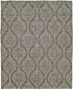 Tibo Hand-Knotted Wool Gray/Beige Area Rug Rug Size: Rectangle 9' x 12'
