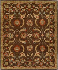 Ranbir Hand Knotted Wool Brown Area Rug Rug Size: Runner 2'6