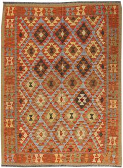 Kilim Hand-Woven Wool Brown Area Rug