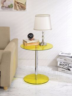 Crowther End Table Table Top Color: Yellow