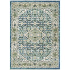 Justine Blue Area Rug Rug Size: Rectangle 3' x 5'