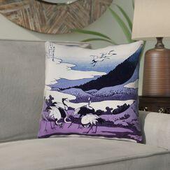 Montreal Japanese Cranes 100% Cotton Throw Pillow Size: 20