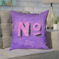 Enciso Graphic Wall 100% Cotton Pillow Cover Size: 14