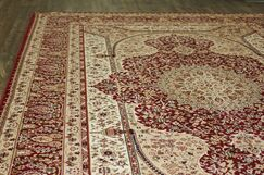 Boulevard Traditional Oriental Red/Beige Area Rug Rug Size: Rectangle 7'10