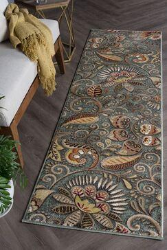 Concord Seafoam/Mocha Area Rug Rug Size: 2'3' x 10'