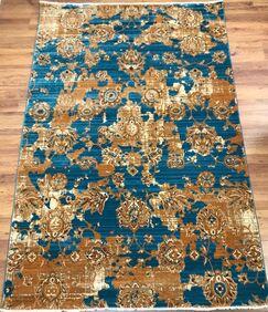 Serina Blue/Brown Area Rug Rug Size: Rectangle 8' x 10'