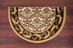 Pullins Slice Hearth Beige/Black Rug Rug Size: 49