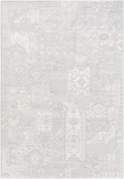 Pickrell Light Gray/White Area Rug Rug Size: Rectangle 9'2