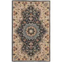Kuhlman Hand-Woven Wool Cream/Black Area Rug Rug Size: Square 6'