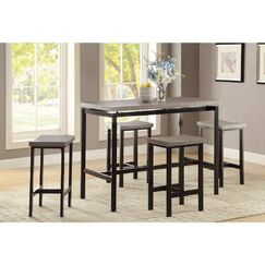 Mccreery 5 Piece Counter Height Dining Set