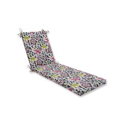 Indoor/Outdoor Chaise Lounge Cushion Fabric: Silver