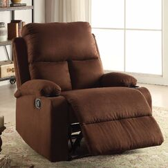 Menon Manual Glider Recliner Upholstery Color: Brown