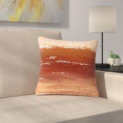 Iris Lehnhardt Cinnamon Chai Painting Outdoor Throw Pillow Size: 18