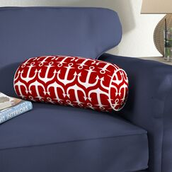 Velia Bolster Pillow Color: Red