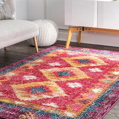 Caver Pink Area Rug Rug Size: Rectangle 8' x 10'