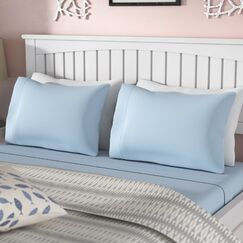 Carlinville 1200 Jersey Sheet Set Size: Twin, Color: Blue