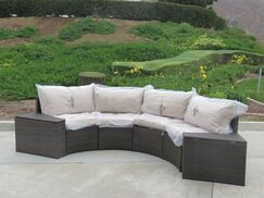 Kelch 2 Piece End Table Set with Back Pillows