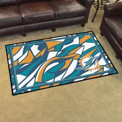 NFL Red Area Rug Team: Miami Dolphins