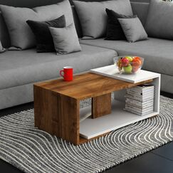 Collina Coffee Table Table Top Color: Walnut