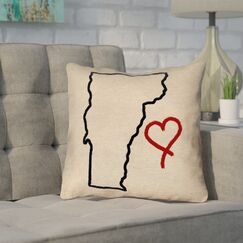 Sherilyn Vermont Love Outdoor Throw Pillow Size: 20