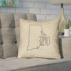 Sherilyn Rhode Island Outdoor Throw Pillow Size: 18
