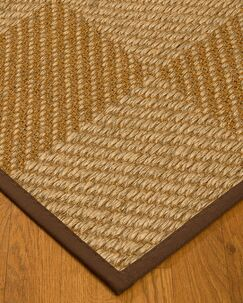 Kimsey Hand-Woven Brown/Beige Area Rug Rug Size: Rectangle 8' x 10'
