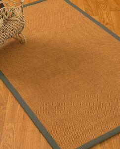 Kempton Border Hand-Woven Brown/Olive Area Rug Rug Size: Rectangle 6' x 9'