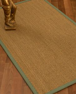 Mahaney Border Hand-Woven Beige Area Rug Rug Size: Rectangle 9' x 12', Rug Pad Included: Yes