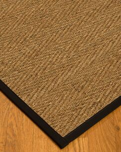 Chavarria Border Hand-Woven Beige/Black Area Rug Rug Size: Rectangle 6' x 9', Rug Pad Included: Yes