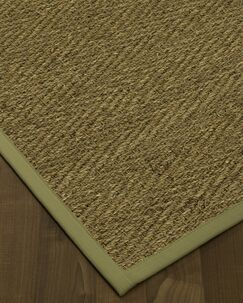 Chavarria Border Hand-Woven Beige/Natural Area Rug Rug Size: Rectangle 5' x 8', Rug Pad Included: Yes