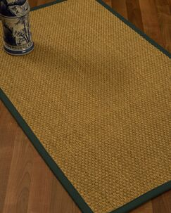 Rosabel Border Hand-Woven Beige/Dark Green Area Rug Rug Size: Rectangle 9' x 12', Rug Pad Included: Yes