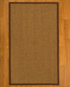 Asmund Border Hand-Woven Brown Area Rug Rug Size: Rectangle 9' x 12', Rug Pad Included: Yes
