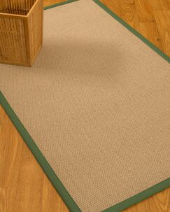 Chea Border Hand-Woven Wool Beige/Green Area Rug Rug Size: Rectangle 5' x 8', Rug Pad Included: Yes