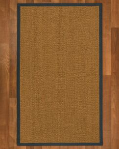 Asmund Border Hand-Woven Brown/Marine Area Rug Rug Pad Included: No, Rug Size: Rectangle 2' x 3'