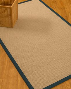 Chea Border Hand-Woven Wool Beige/Marine Area Rug Rug Pad Included: No, Rug Size: Runner 2'6