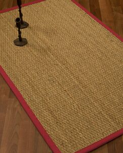 Vanmatre Border Hand-Woven Beige/Red Area Rug Rug Pad Included: No, Rug Size: Rectangle 3' x 5'