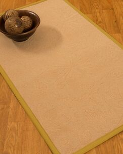 Vanmeter Border Hand-Woven Wool Beige/Tan Area Rug Rug Size: Rectangle 9' x 12', Rug Pad Included: Yes