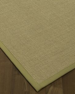 Atwell Border Hand-Woven Olive Area Rug Rug Pad Included: No, Rug Size: Rectangle 3' x 5'