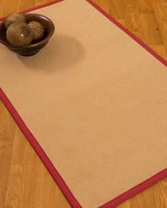 Vanmeter Border Hand-Woven Wool Beige/Red Area Rug Rug Pad Included: No, Rug Size: Rectangle 3' x 5'