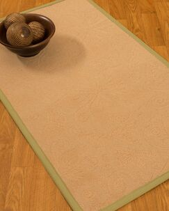 Vanmeter Border Hand-Woven Wool Beige/Green Area Rug Rug Size: Rectangle 6' x 9', Rug Pad Included: Yes