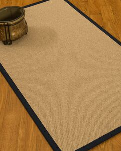 Chavira Border Hand-Woven Wool Beige/Midnight Blue Area Rug Rug Size: Rectangle 5' x 8', Rug Pad Included: Yes