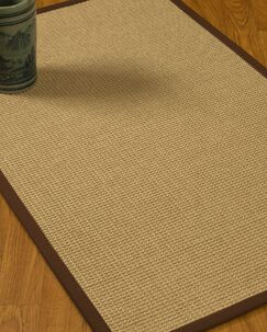 Jacobs Border Hand-Woven Beige/Brown Area Rug Rug Size: Rectangle 4' x 6', Rug Pad Included: Yes