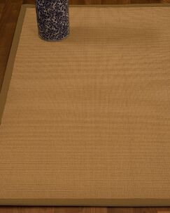Magruder Border Hand-Woven Wool Beige/Sienna Area Rug Rug Pad Included: No, Rug Size: Rectangle 2' x 3'