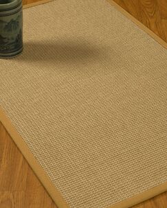 Jacobs Border Hand-Woven Beige/Sage Area Rug Rug Size: Rectangle 9' x 12', Rug Pad Included: Yes